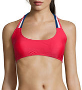 Arizona Solid Macram-Trim Bralette Swim Top - Juniors