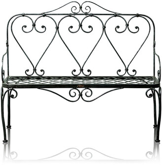 Trilogy Furniture Victorian Wrought Iron 2 Seater Bench