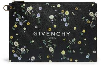 Givenchy Floral Print Logo Pouch