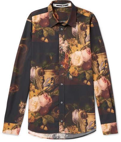 McQ Printed Cotton, Lyocell And Modal-Blend Shirt