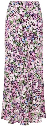 Bec & Bridge Anais Floral-print Silk Midi Skirt