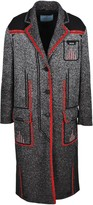 Prada Contrasting Outline Jacquard Coat