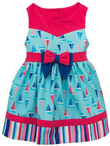 Rare Editions Girls 2-6x Sailboat Printed Knit Dress