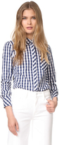 Milly Gingham Button Down Shirt