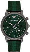Emporio Armani Men's AR1950 Dress Green Nylon Watch