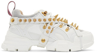 Gucci White Removable Studs Flashtrek Sneakers