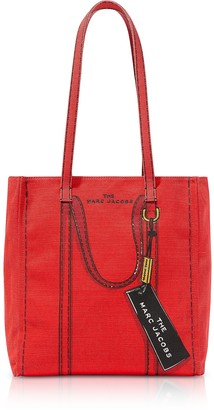 Marc Jacobs Cotton & Linen The Trompe L'oeil Tag Tote Bag 27
