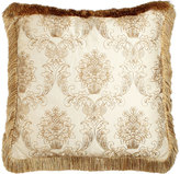 Isabella Collection Catania European Sham with Embroidered Sheer Overlay