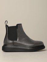 Alexander McQueen Mcq Mcqueen Ankle Boot In Leather With Micro Studs