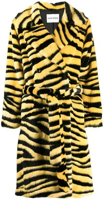 Stand Studio Double-Breasted Tiger Coat