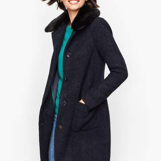 Talbots Boucle Wool Coat