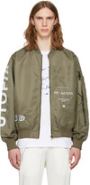 Perks And Mini Green Utopiates Bomber Jacket