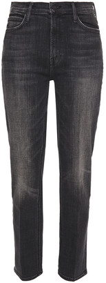 Mother The Dazzler Cropped Mid-rise Slim-leg Jeans