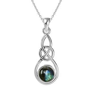 Celtic Natural Pendant Necklace Sterling Silver Knot Style Pendant with 18 Inches Chain