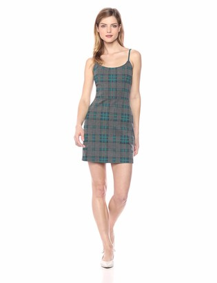 J.o.a. Women's Plaid Skater Dress Teal S