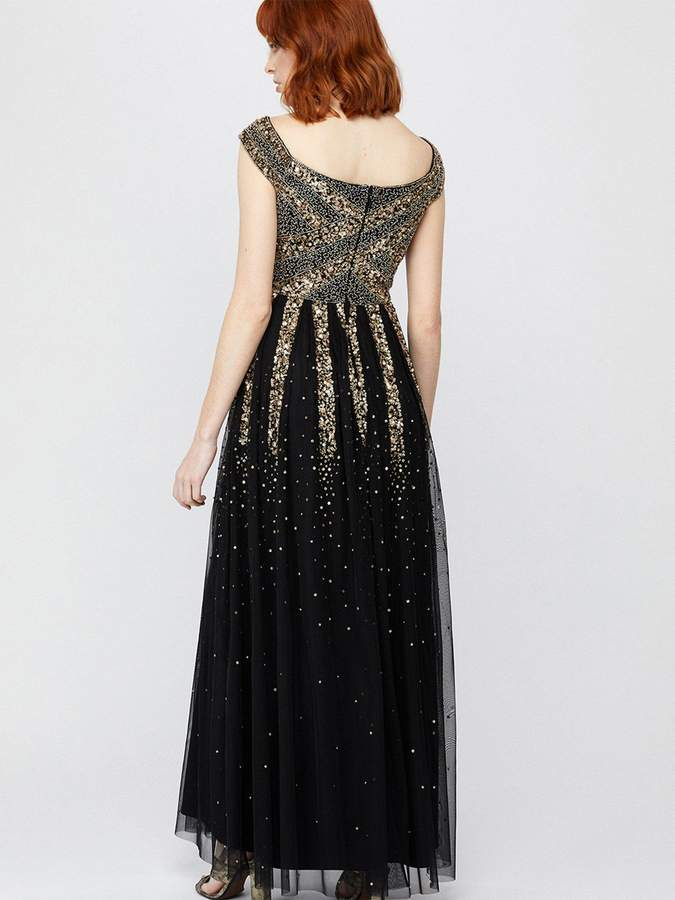 Monsoon Sansa Embellished Maxi Dress - Black