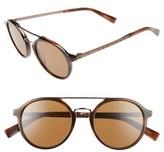 Ermenegildo Zegna Men's Retro 50Mm Sunglasses - Black/ Light Ruth/ Dark Grey