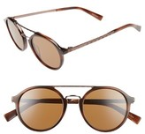 Ermenegildo Zegna Men's Retro 50Mm Sunglasses - Havana/ Light Bronze/ Brown