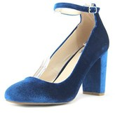 Fergalicious Daisy Women Round Toe Canvas Blue Heels.