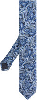 HUGO BOSS paisley embroidered tie