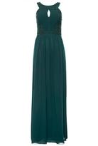 Quiz Bottle Green Chiffon Embellished Maxi Dress