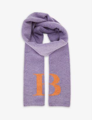 Hades Alphabet B wool scarf