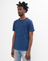 Levi's Pocket Blue and Black Stripe T-Shirt