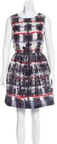 RED Valentino Abstract Print A-Line Dress