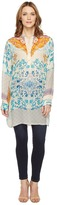 Johnny Was Ellyonora 1/2 Placket Tunic Women's Blouse