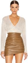Mason by Michelle Mason Cross Wrap Sweater in Ivory | FWRD