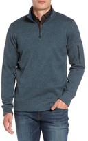 Jeremiah Men's Lance Herringbone Zip Mock Neck Sweater