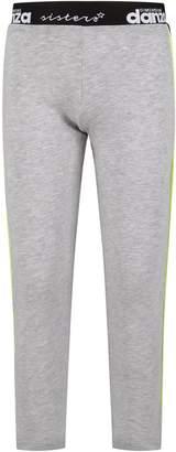 Dimensione Danza Grey Girl Leggings With White Logo