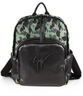 Giuseppe Zanotti Camo-Print Leather Backpack