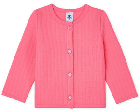 Petit Bateau FARINE girls's Cardigans in Pink