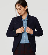 LOFT Petite Speckled Tweed Notched Blazer