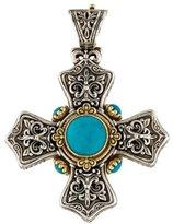 Konstantino Turquoise Cross Pendant