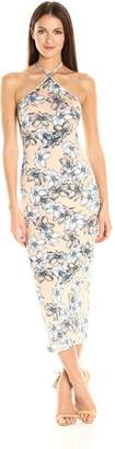 Clayton Women's Maliya Floral Print Midi Dress Bare Sketch Medium