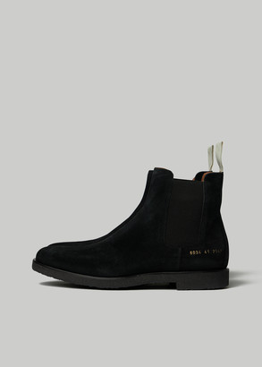 Woman by Common Projects Women's Suede Chelsea Boot in Black Size 35