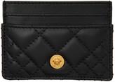 Versace Black Quilted Medusa Card Holder
