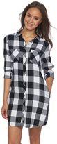Juniors' SO® Pocket Button-Down Shirtdress
