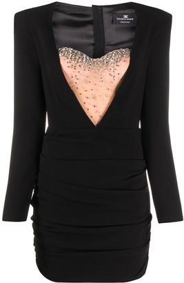 Elisabetta Franchi Sheer-Panel Mini Dress