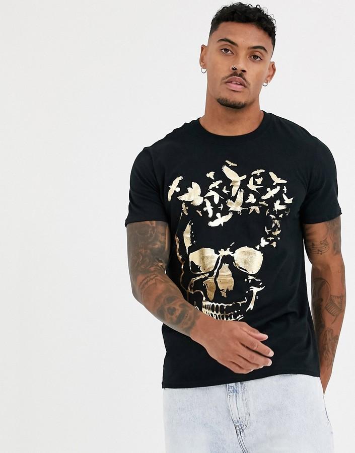 Bolongaro Trevor foil skull t-shirt-Black
