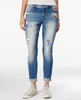 Vanilla Star Juniors' Patch Ripped Skinny Jeans