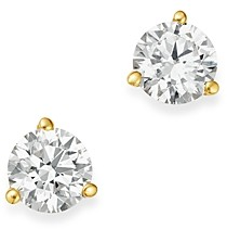 Bloomingdale's Certified Diamond Stud Earrings in 18K Yellow Gold Martini Setting, 0.75 ct. t.w. - 100% Exclusive