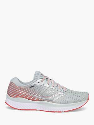 Saucony Guide 13 Women's Running Shoes, Sky Grey/Coral