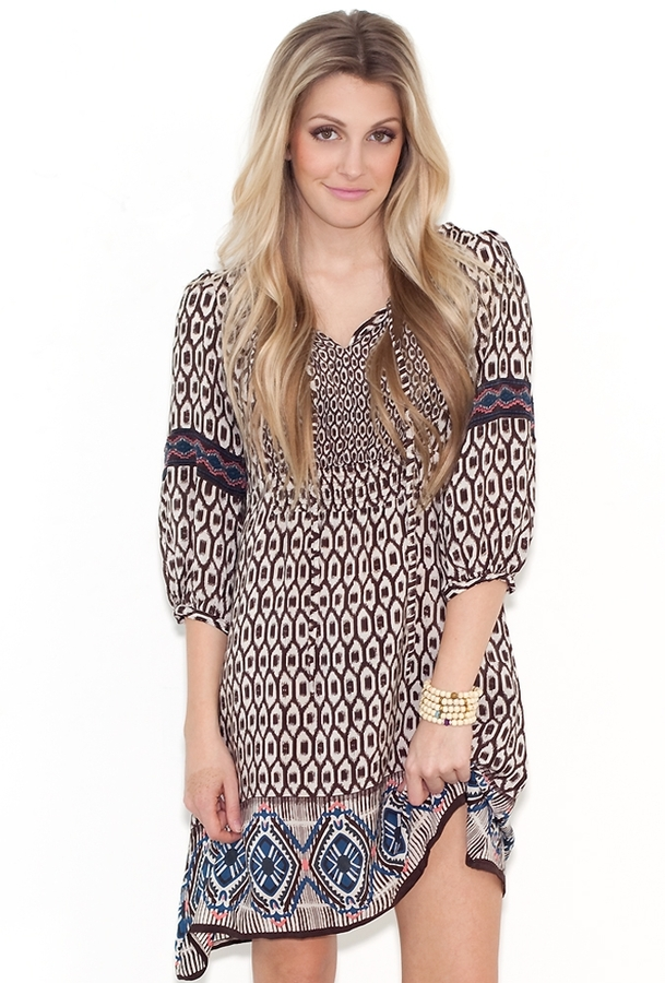 Tolani Ashley Tunic in Ikat