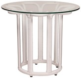The Well Appointed House Calla Outdoor End Table in White