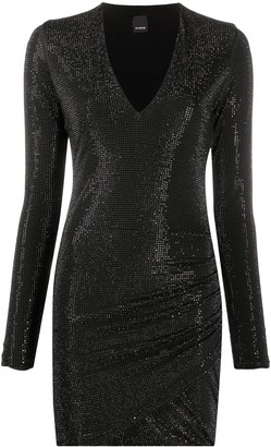 Pinko Rhinestone Bodycon Mini Dress