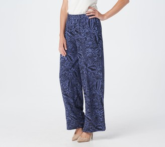 Linea By Louis Dell'olio by Louis Dell'Olio Regular Printed Pull-On Wide Leg Pants