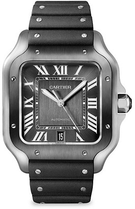 Cartier Santos de Large Two-Tone Stainless Steel Two-Strap Watch